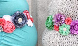 DIY : la ceinture de maternité «flower power» indispensable pour sublimer un baby bump