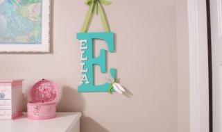 DIY : utiliser l'initiale du prénom de bébé pour décorer sa chambre