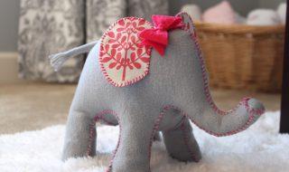 DIY : un éléphant tout doux pour décorer la chambre de votre petit roi de la savane