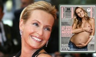 Enceinte, Estelle Lefébure pose topless en Une du magazine Elle !