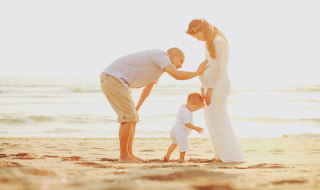 Une petite famille (presque) au complet et une magnifique photo sous le soleil !