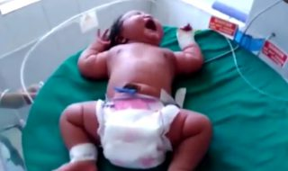En Inde, elle accouche d'un bébé de presque 7 kilos !
