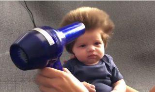 Trop craquant, ce bébé de 8 semaines possède une incroyable coupe de cheveux !