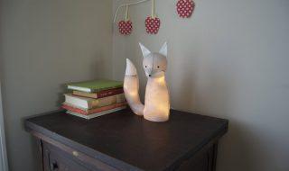 Comment fabriquer une veilleuse «petit renard» pour décorer la chambre de bébé ?