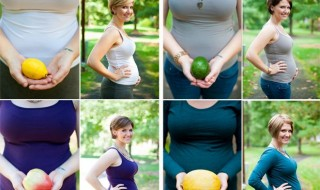 Chaque mois, un fruit pour symboliser votre grossesse