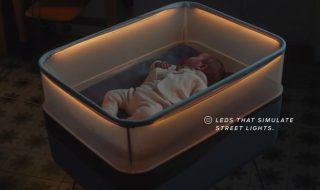 Un berceau connecté qui imite les trajets en voiture pour aider bébé à dormir, fausse bonne idée ?