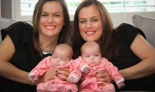 Fait rare : une maman née jumelle, accouche de jumelles identiques !