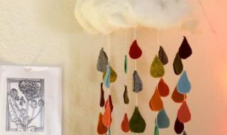 DIY : Un mobile de pluie arc-en-ciel pour bébé