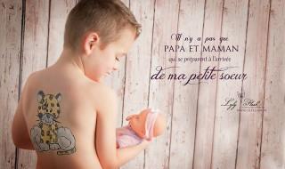 Neuf Mois a reçu une jolie annonce de grossesse !
