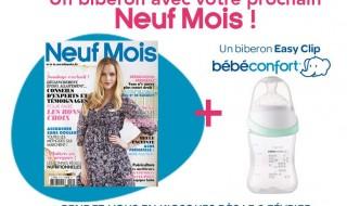 Un biberon Bébé Confort avec votre magazine Neuf Mois n°151 !