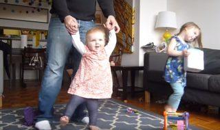 Vidéo : ce papa filme sa petite fille tous les jours jusqu'à ce qu'elle apprenne à marcher !
