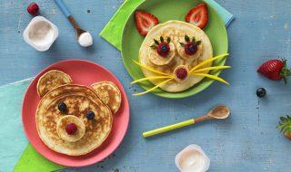 Mini pancakes au yaourt pour bébé à partir de 12 mois
