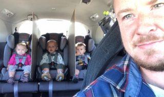 Pourquoi ce papa de triplés a-t-il installé des parois de séparation à l'arrière de sa voiture ?