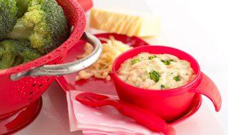 Petites pâtes au saumon et au brocoli, pour bébé à partir d'un an