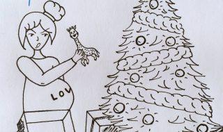 Enceinte, les cadeaux ne t'étaient pas vraiment destinés cette année ?