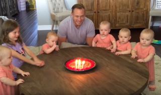 Vidéo : la réaction de ces bébés quintuplés lorsque papa souffle ses bougie est très inattendue