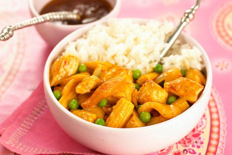 poulet au curry et lait de coco accompagn de riz pour b b partir de 12 mois. Black Bedroom Furniture Sets. Home Design Ideas