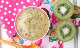Compote fruitée au kiwi et à la banane pour bébé à partir de 7 mois