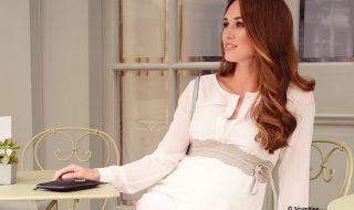 10 robes de grossesse pour adopter le total look blanc au printemps