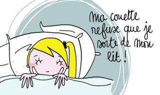 Quand ta couette refuse catégoriquement que tu te lèves… Bon lundi !