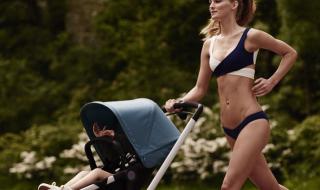 Une mannequin qui fait son jogging avec poussette et bikini, cela crée la polémique !
