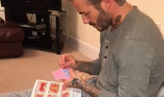 David Beckham, un papa poule qui s'improvise couturière !