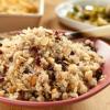 Risotto festif de quinoa à la canneberge et aux raisins secs