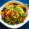 Salade gourmande colorée à la courge et ses petites graines de grenade